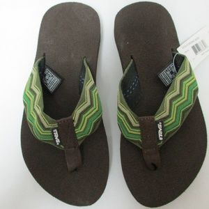 Teva zigzag Neptune Lime mush thong sandals NEW 5